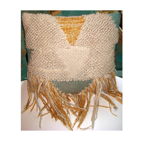 artisan-made item Other - American Craft Council Handwoven Wool Pillow
